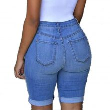 Summer Denim Shorts Women Elastic Destroyed Hole plus size Jeans Short Women Shorts Jeans Female skinny jeans woman Micro Short