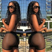 Fashion Women Hot Shorts 2019 New Summer See Through Mesh Fishnet Short Mujer Hollow Out Slim Elastic Perspective Bottoms Shorts