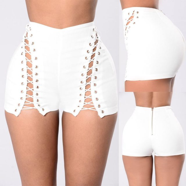 Sexy New Women Ladies Denim Shorts Stretch Ripped Hole Jeans Shorts Skinny Hotpants LIN
