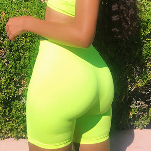 Chic Stylish Colorful Women Hot Summer Shorts Beach High Waist Skinny Shorts Jogging Soft Outwear