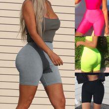 Chic Stylish Colorful Women Hot Summer Shorts Beach High Waist Skinny Shorts Jogging Soft Outwear