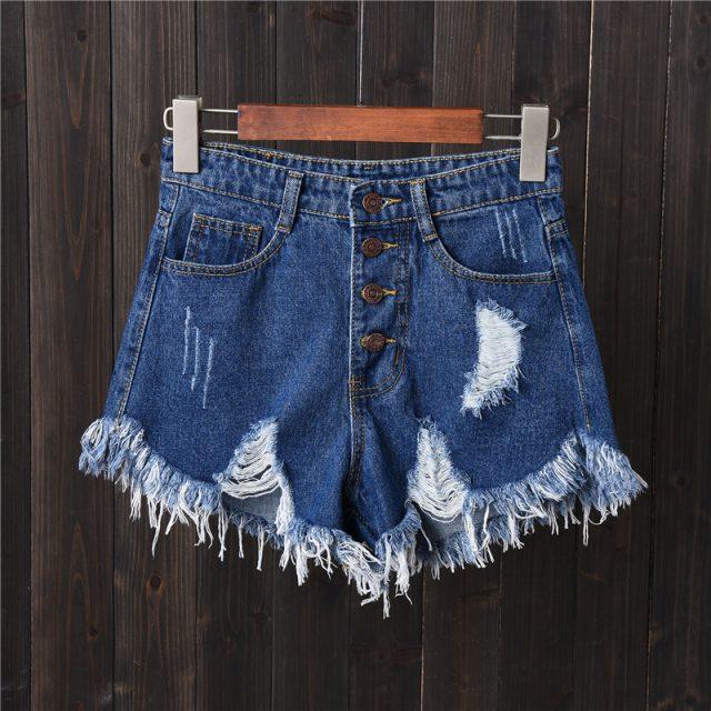 DJGRSTER Sexy Jeans Shorts Women Summer Booty Shorts Mini Denim Short Feminino Casual Jean Black Shorts Vintage Plus Size S-6XL