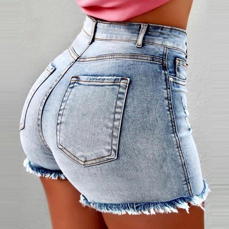 Women Sexy high waist Ripped Jeans Shorts Summer Booty Shorts Mini denim shorts Ladies Casual Jeans Black Vintage short pants
