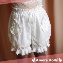 Fashion Cute White Lolita Shorts Bloomers  Any Size