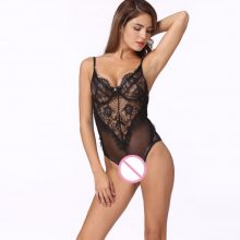 Anself Sexy Lace Bodysuit Women Bodycon Jumpsuit Short 2019 Summer Hollow Out Rompers Womens Jumpsuit Body Overall Mesh Playsuit