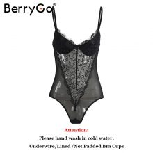 BerryGo Sexy backless lace bodysuit Black skinny fringe bodysuit one-piece jumpsuit romper women Summer party playsuit coveralls