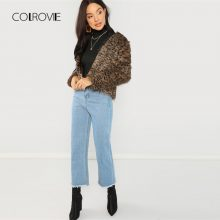 COLROVIE Black Solid High Neck Girl Sexy Bodysuit Women Autumn Long Sleeve Female Slim Skinny Basic Women Bodysuits