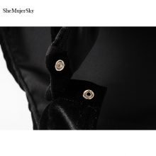 SheMujerSky Autumn Velour Women Bodysuits Sexy Jumpsuit 2017 V Neck Body Woman Long Sleeve Overalls Women's Suit