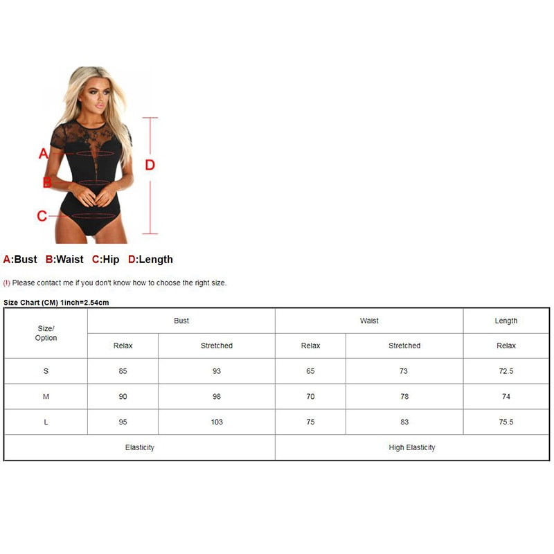SEBOWEL Black Mesh Transparent Lace Short Sleeve Bodysuits Women O-Neck Skinny Body Jumpsuit Femme Romper Combinaison Club wear