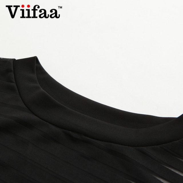 Viifaa Sexy Black Bodysuit Women See Through Mesh Bodycon Jumpsuit Transparent Body Femme Romper Summer Party Bodysuits