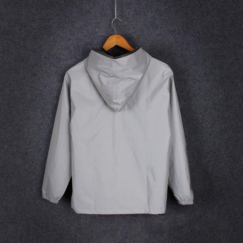 GACVGA 2019 Reflective Jacket Hooded Party Night Club Long Sleeve Women Jackets and Coats Luminous Sexy Windbreaker Overcoat