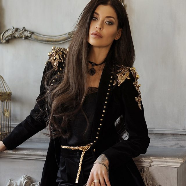 Adyce 2019 New Spring Women Slim Trench Coats Sexy Black Deep V-Neck Sequin Bead Single Button Coats Long Sleeve Club Coats