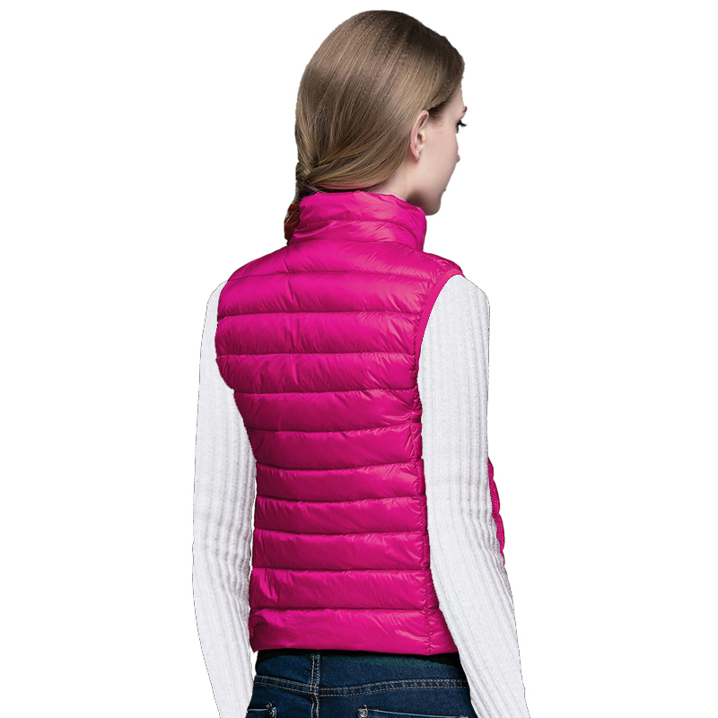 90% White Duck Ultra Light Down Vest Sexy Lovers Slim Outerwear Vest Winter Duck Down Jacket Packable Vest Women Parkas
