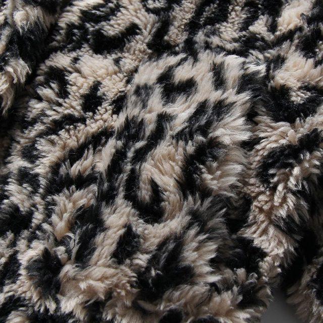 2018 Winter New Vintage Leopard Printing  Lamb Fur Warm Women's Overcoat