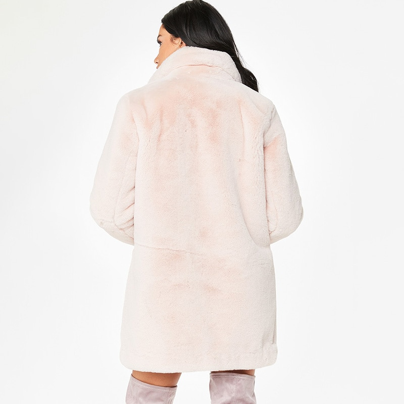 Women Winter Coats Outerwear Slim Long Pink Red Jacket Thicken Warm Faux Fur Coat Casual Shaggy Fake Fur Jacket Female Overcoats