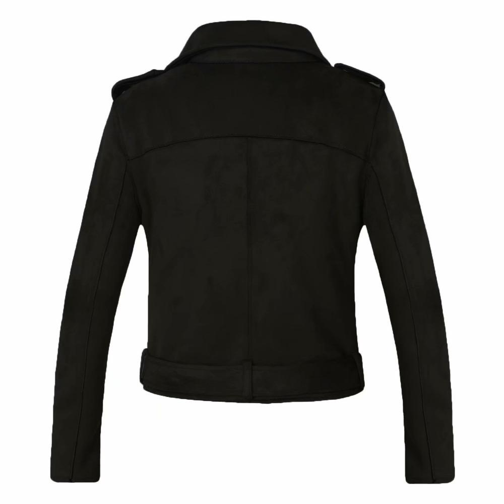2018 New Arrial Women Autumn Winter Suede Faux Leather Jackets Lady Fashion Matte Motorcycle Coat Biker Gray Pink Beige Outwear