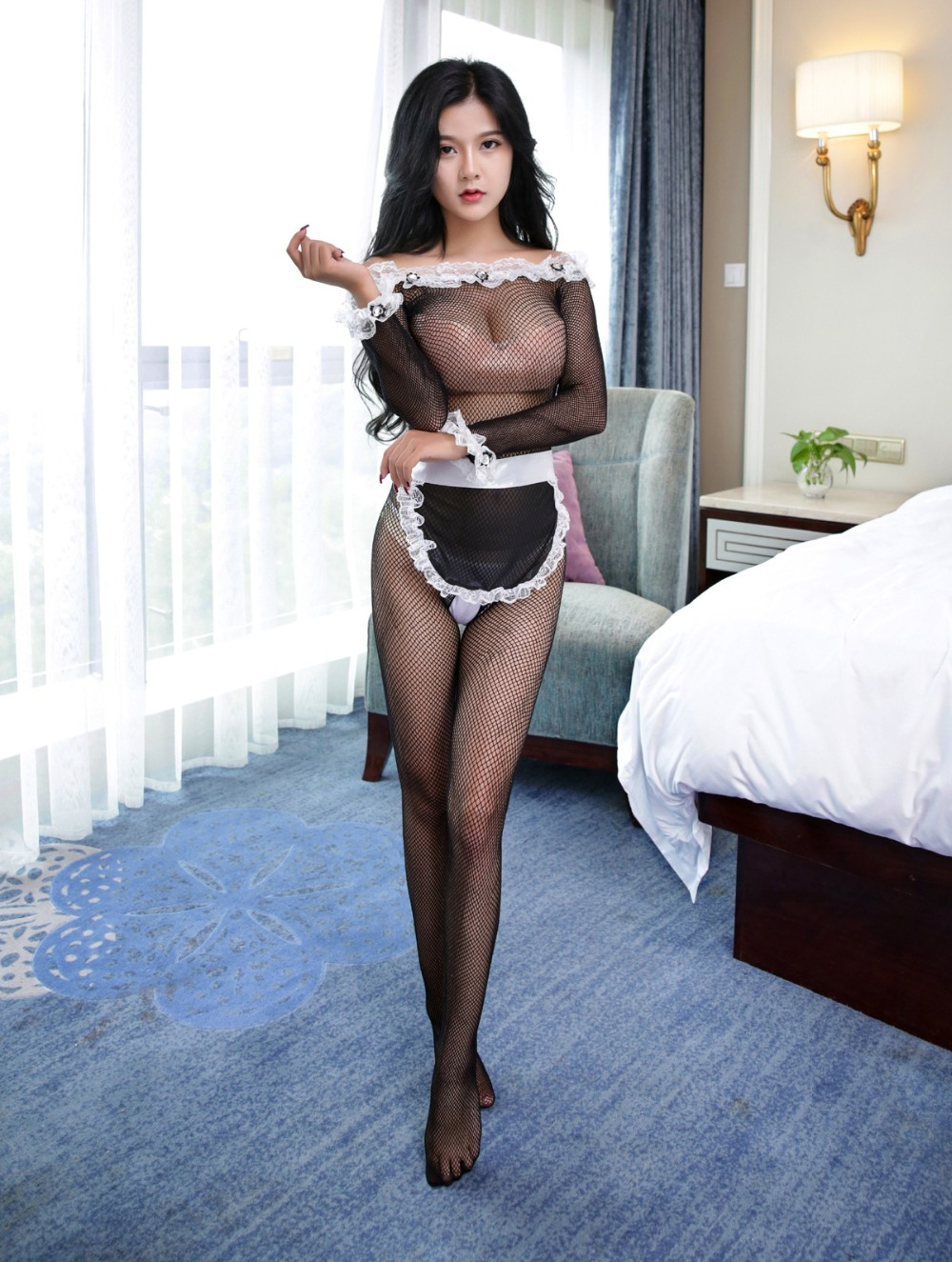 Sexy Maid Clothes Lolita Maid Outfit Black Lace Hot Sexy Lady Uniform temptation sexy costumes porn Adult Sex Games erotic