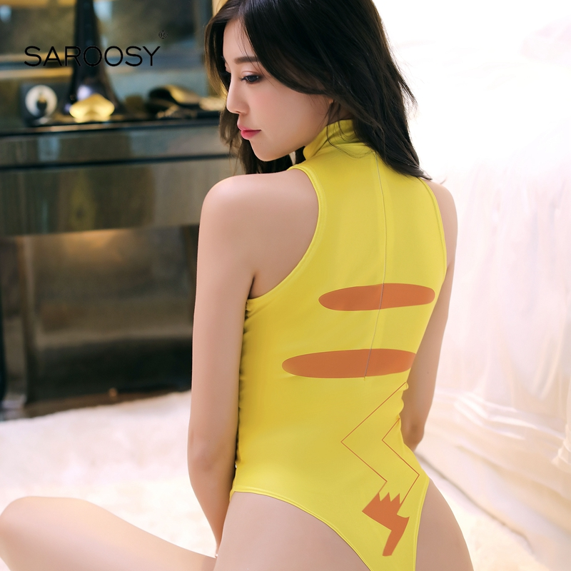 SAROOSY New Pikachu Sexy Costumes for Women Erotic  Bodysuit Cartoon Lolita Kawaii Style Sexy Lingerie Swimwear Cosplay