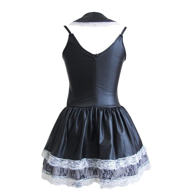 UTMEON Sexy Women's Exotic Apparel Maid Cosplay Late Nite French Maid Costume Servant Cosplay Dress