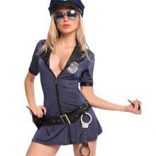 UTMEON Sexy Women Hottie Police Costume Dresses Cosplay Uniform Plus Size S-XXL