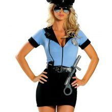MOONIGHT New Police Fancy Halloween Costume Sexy Cop Outfit Woman Cosplay Sexy Erotic Lingerie Police for Women 3 piece