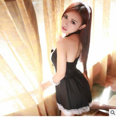 HOT Sexy Lingerie Cosplay Erotic Apron Maid Sexy Costume Babydoll Dress Women Lace Miniskirt Outfit