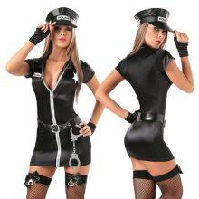 Women Sexy Cosplay Police Costume Policewomen Role Play Uniform Stylish Party Dance Performance Uniform Suit Mini Fancy Dress