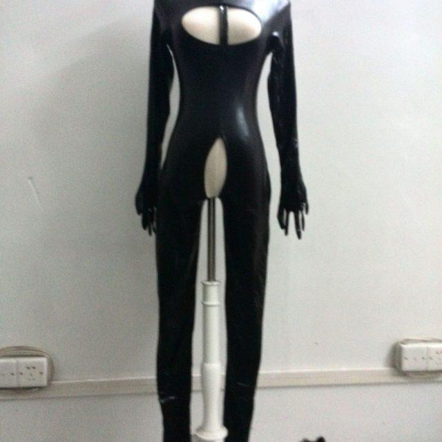 Ensen Cat Women latex zentai catwoman costume costume Leather Jumpsuit Bondady catsuit Bodysuit Erotic Catwoman Catsuit Retail