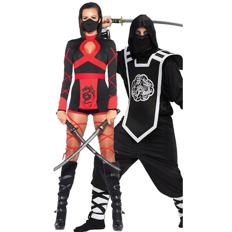 Halloween New Ninja Cosplay Mask Black Hooded Costume Assassin Game Cosplay Women Adult Sexy Anime Ninja Costume Black Suits