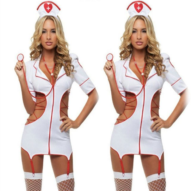 Sexy Nurse Costume Erotic Costumes Sexy Maid Lingerie Sexy Role Play Women Erotic Lingerie Sexy Underwear Games Cosplay Uniform