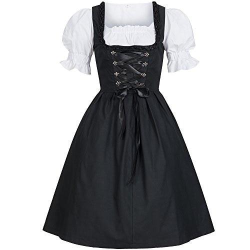 Plus size 5XL Women Ladies Beer Maid Authentic Blue German Dirndl Oktoberfest Costumes Oktoberfest Party Halloween Fancy Dress