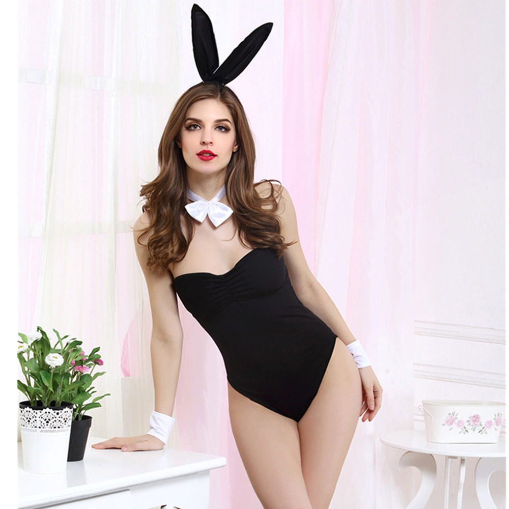 2018 Sexy Leopard Lingerie Erotic Sexy Costumes Sexy Rabbit Cosplay Uniforms Role Play Costumes Halloween Costumes for Women Sex