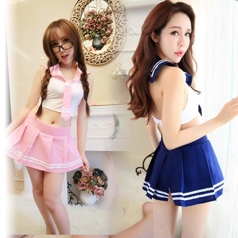 Sexy mini dress Cosplay School girl fantasy Student Suit skirt Lady tie Uniform Costumes porn Adult Sex Games erotic set Outfit