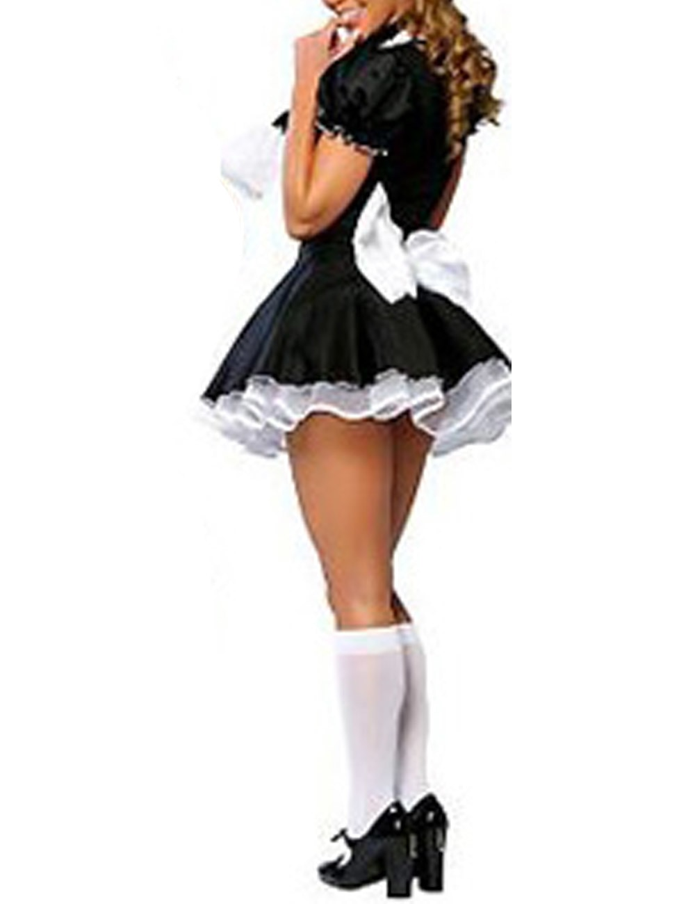2018 High Quality Sexy Adult Woman 2PC Late Night French Maid Servant Costume French Maid Costume