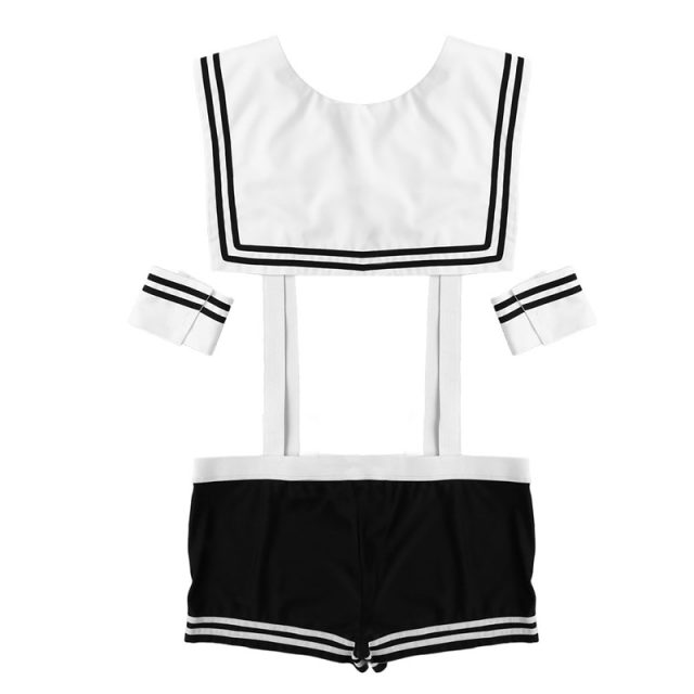 3Pcs Adult Men Sexy Sailor Costume Hot Erotic Sexy Slim Fit White Seaman Uniform Carnival Festival Halloween Male Costumes