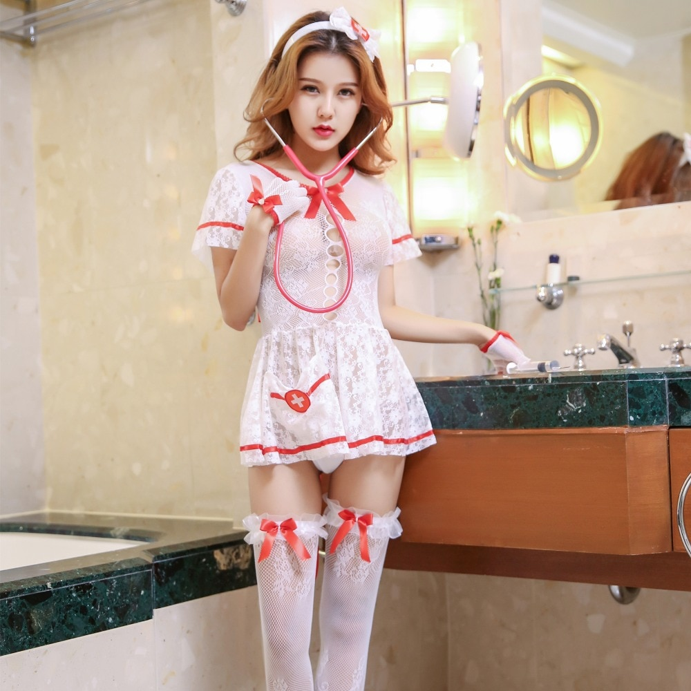Fantasy Party Sexy Nurse Costume Flirting Women Outfit Halloween Fantasias Womens Role Play Games