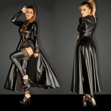 2018 Women Cosplay Costume The Matrix Trench Uniform Leather Ornate Cloak Sexy Elegant Lace Halloween Christmas Party Clothing