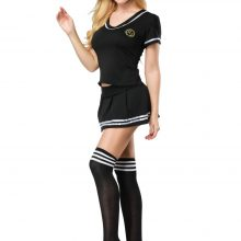 S-4XL Women Sexy Sailor Suit Girl's Cosplay Student Uniform Sexy Football Cheerleader Costume With Stocking 3S1819