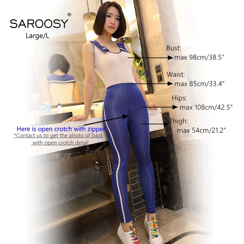 SAROOSY New Sexy School Girl Cosplay Costumes for Women Sleeveless Smooth Erotic Lingerie Sex Japanese Style Uniform