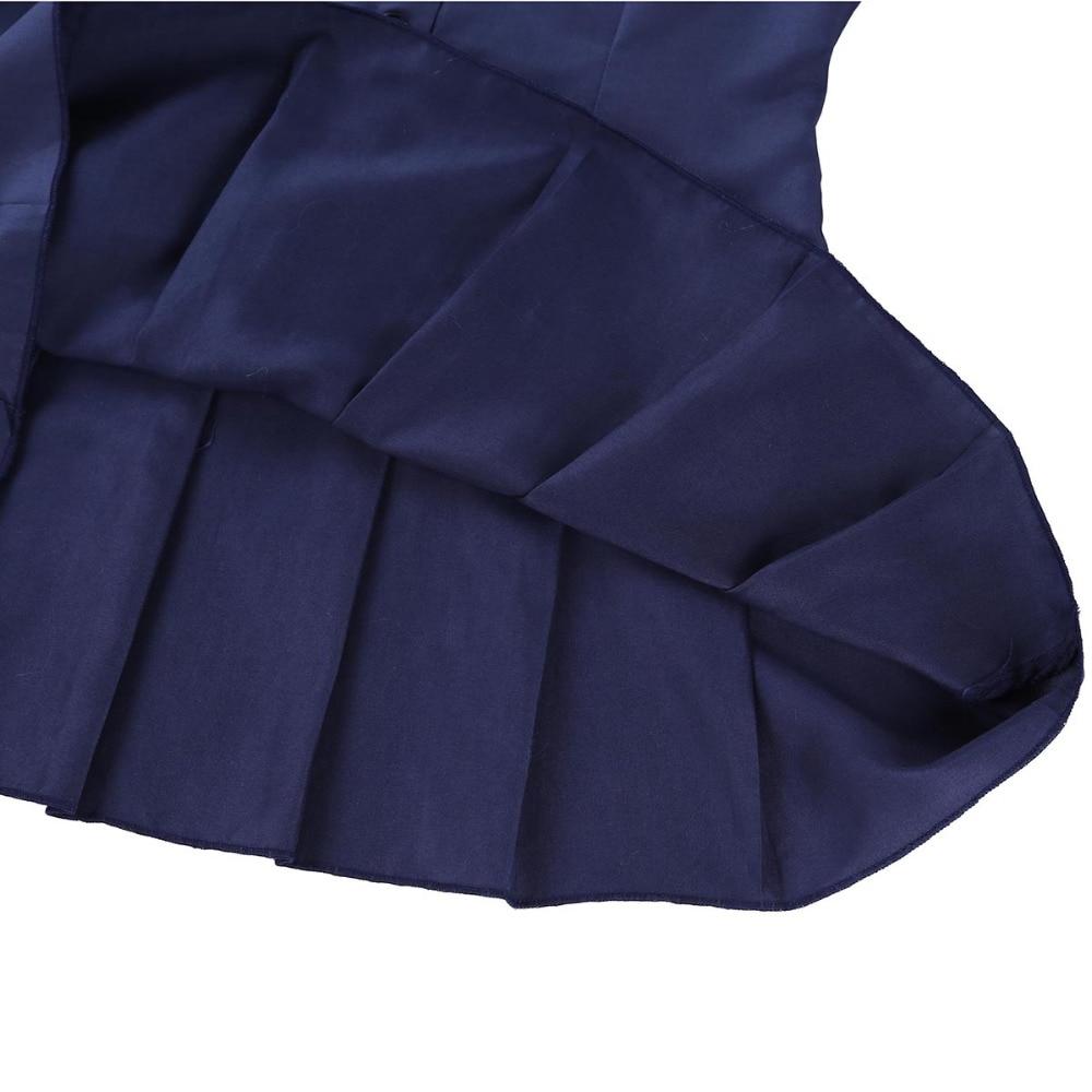 iEFiEL Sexy 2018 Women Adult Schoolgirl Student Fancy Costume Uniform Short Sleeve Fancy Shirt Dress with Necktie Night Clubwear