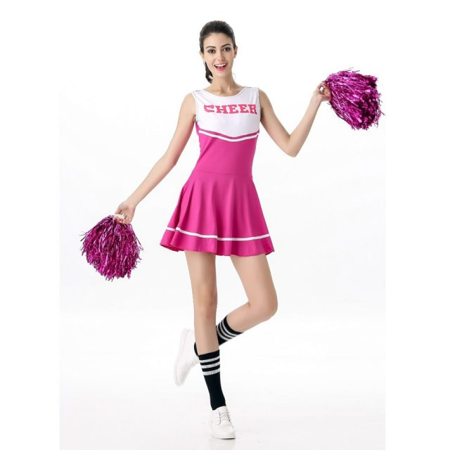 MOONIGHT 6 Color Sexy High School Cheerleader Costume Cheer Girls Uniform Party Outfit Fancy Dress