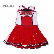 New Baseball Cheerleading Glee Cheerleader Costume Aerobics Clothing Uniforms for Performances Halloween Fancy Dress Size S-XL