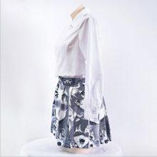 Ahegao Shirt Funny Japanese style pleated skirts Harajuku 3D Print Funny Cotton Short Skirt Anime anime cosplay women Skirts