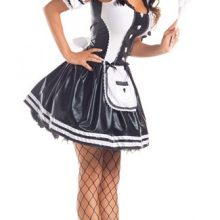 MOONIGHT Lace French Maid Costume Sexy Women Cosplay Maid Fancy Mini Dress Halloween Costumes
