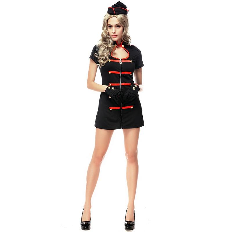 Women's Black Sexy Vampires Nurse Uniform Set Costume Cosplay For Girl Halloween Game Stage Bar Costume Cosplay
