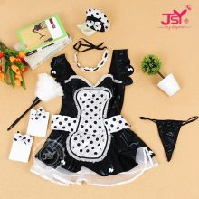 Sexy Women's Nite French Maid Cosplay Costume Women Exotic Servant Cosplay Plus Size Maid Costume 9867