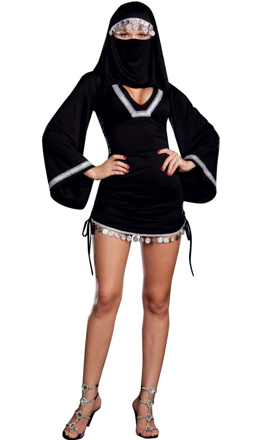 Extreme Sexy Costumes Free Shipping New Sexy Burka Costume 3S1208 Halloween Ninja Costumes For Women