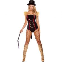 Sexy Circus Girl Tube Top Jumpsuit Chain Wild Animal Trainer Clothing Cosplay Costume Fancy Dress Body Shaper With Hat Helloween