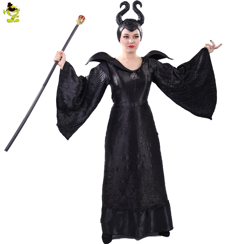 Adult's Witch Maleficent Costumes Sexy Black Halloween Made Maleficent Cosplay Suit Maleficent Fancy Dress Outfits Costume