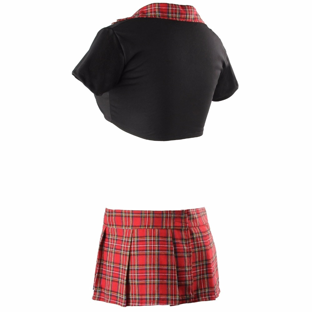 Sexy Women Lingerie Halloween School Girl Uniform Fancy Dress Costume Outfit